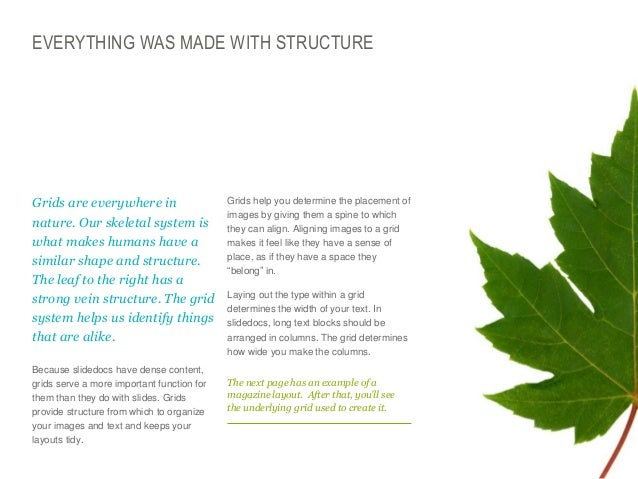 EVERYTHING WAS MADE WITH STRUCTURE  Grids are everywhere in nature. Our skeletal system is what makes humans have a simil...