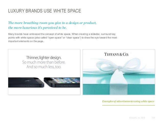 LUXURY BRANDS USE WHITE SPACE The more breathing room you give to a design or product, the more luxurious it's perceived t...