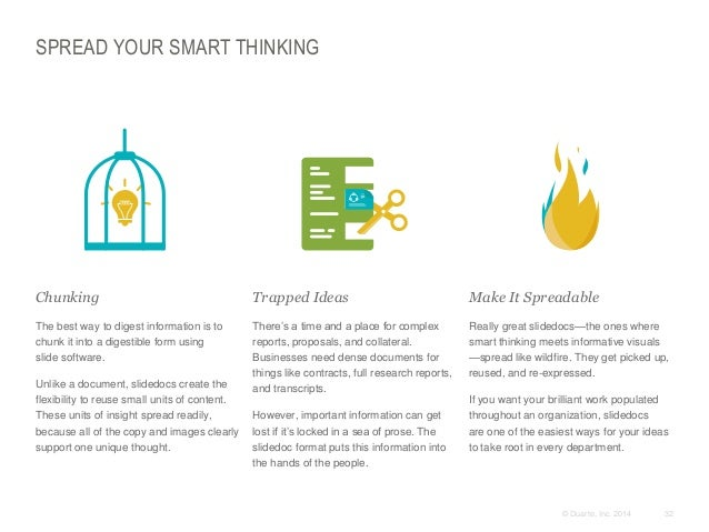 SPREAD YOUR SMART THINKING  Chunking  Trapped Ideas  Make It Spreadable  The best way to digest information is to chun...