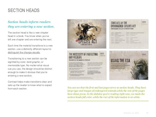 SECTION HEADS Section heads inform readers they are entering a new section. The section head is like a new chapter head i...