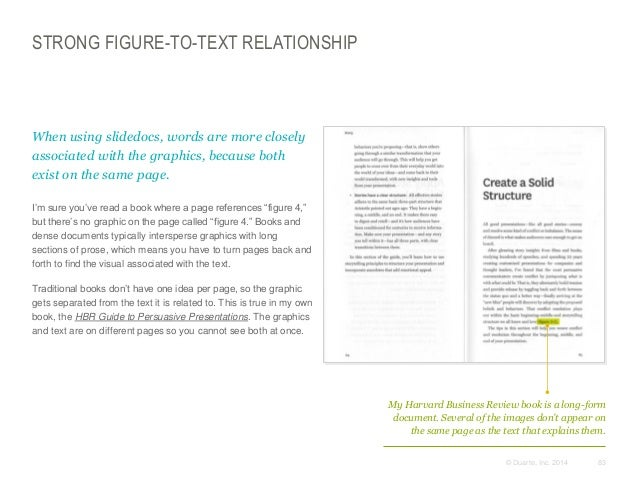 STRONG FIGURE-TO-TEXT RELATIONSHIP  When using slidedocs, words are more closely associated with the graphics, because bo...