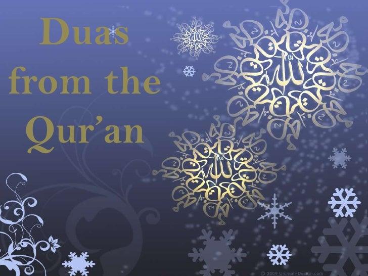 """Duasfrom the Qur""""an"""