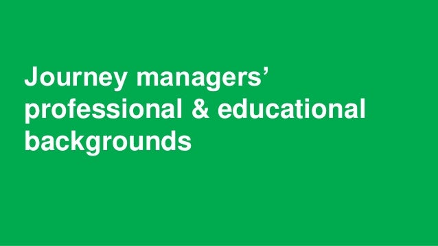 Journey managers' bachelor's degree focus Base: 249 Journey Managers on LinkedIn 72% hold a bachelor's degree 26% hold a m...