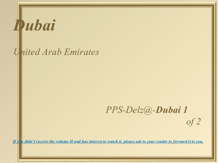 DubaiUnited Arab Emirates                                                       PPS-Delz@-Dubai 1                         ...