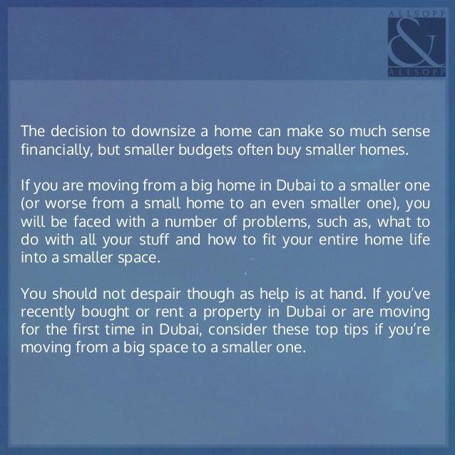 dubai real estate advice tips downsizing. Black Bedroom Furniture Sets. Home Design Ideas