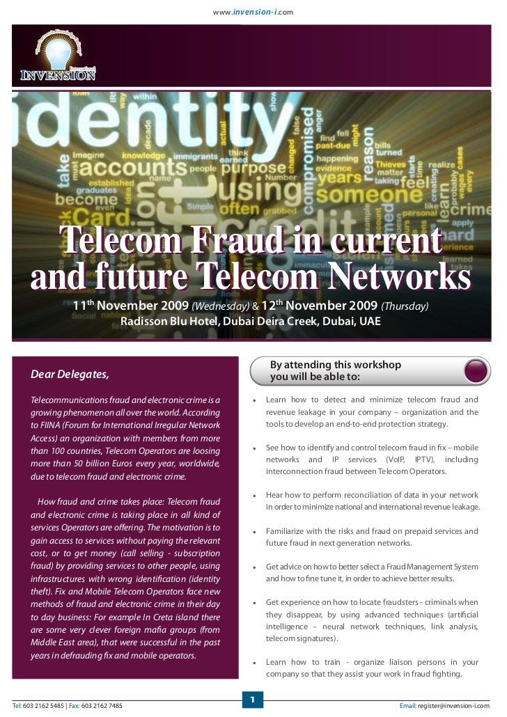 www. invension-i .com        Telecom Fraud in current      and future Telecom Networks                     11th November 2...