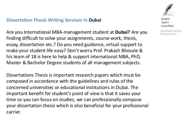 PhD Dissertation & Thesis Writing Services