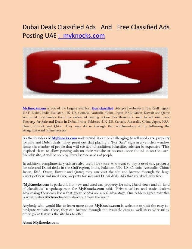 Classified Ads for Used Autos | MyKnocks.com