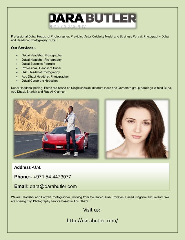 Dubai headshot photographer