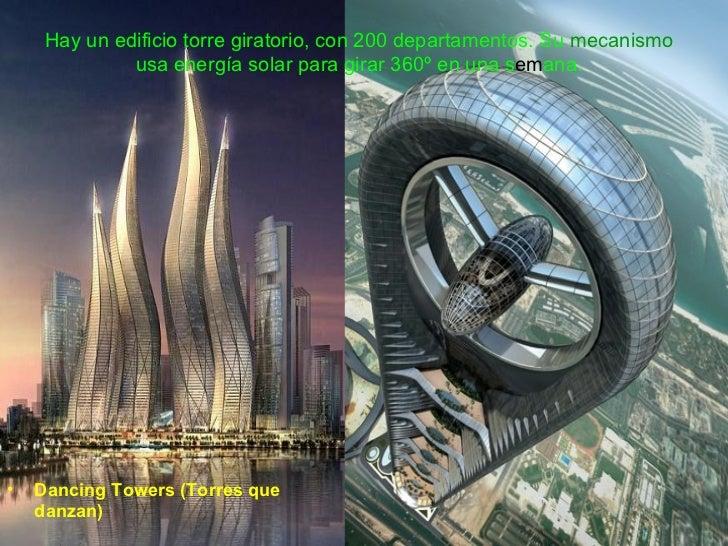 hay un edificio torre giratorio