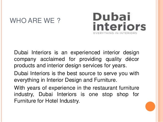 Dubai Interiors Company Profile