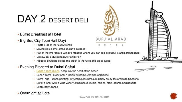 Dubai Itinerary Sample – Itinerary Sample