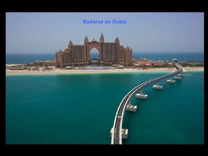 Bañarse en Dubai