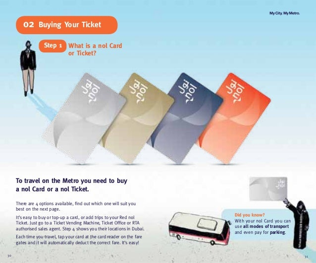 Did you know?With your nol Card you canuse all modes of transportand even pay for parking.To travel on the Metro you need ...