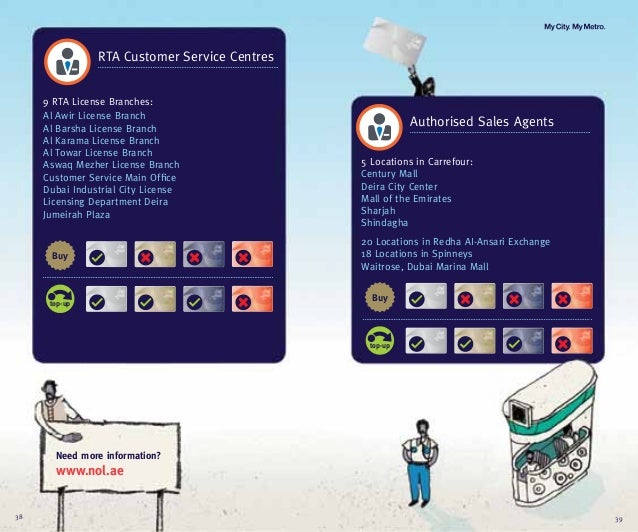 RTA Customer Service Centres9 RTA License Branches:Al Awir License BranchAl Barsha License BranchAl Karama License BranchA...