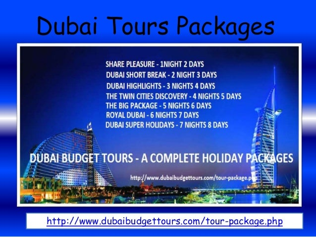 Online Book Dubai Tour Packages from Dubai Budget Tours