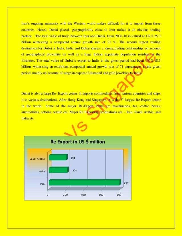 Dubai vs singapore as trading hubs