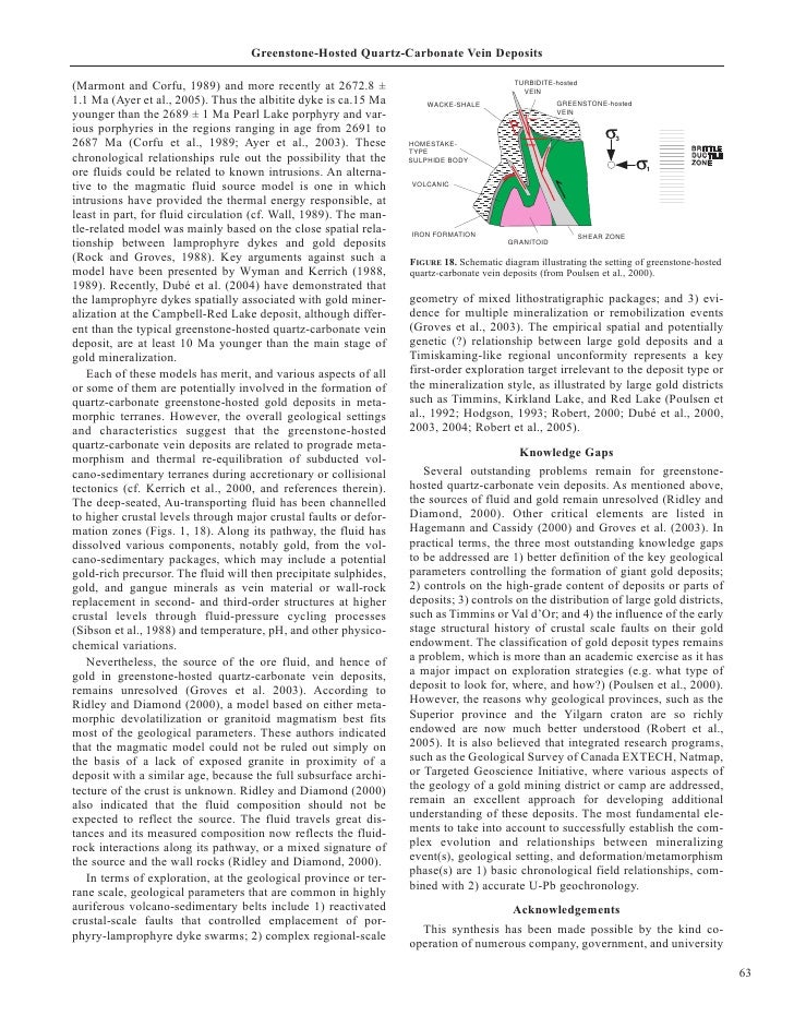 Greenstone-Hosted Quartz-Carbonate Vein Deposits                                                                          ...