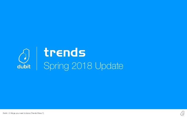 Dubit - 5 things you need to know (Trends Wave 7) Spring 2018 Update