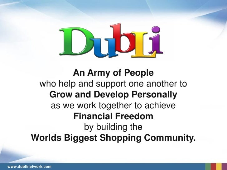 An Army of People            who help and support one another to              Grow and Develop Personally               as...