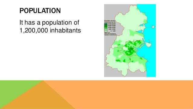It has a population of 1,200,000 inhabitants POPULATION