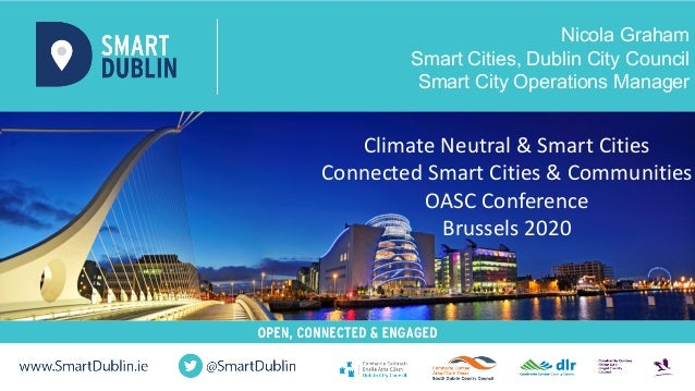Nicola Graham Smart Cities, Dublin City Council Smart City Operations Manager Climate Neutral & Smart Cities Connected Sma...