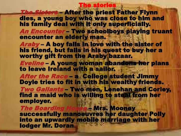 the sisters araby and an encounter Dubliners by james joyce - the sisters summary and analysis.