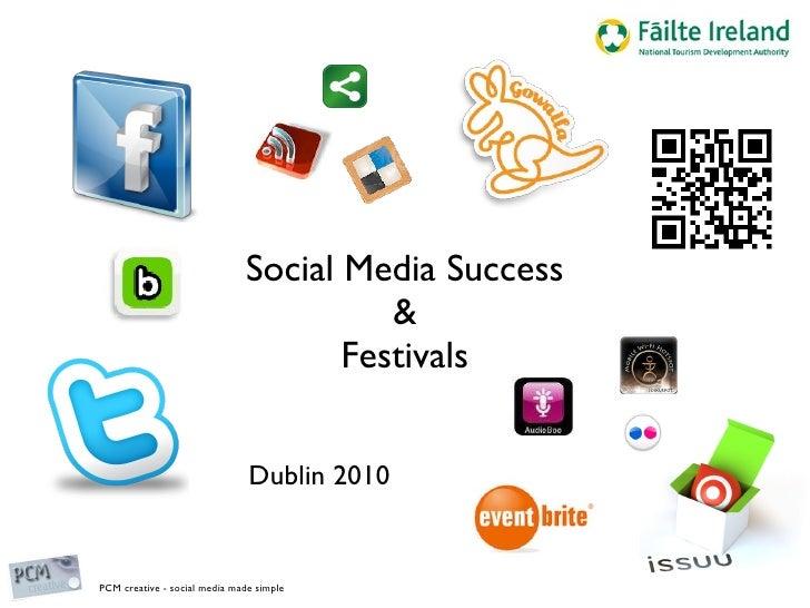 Social Media Success & Festivals Dublin 2010