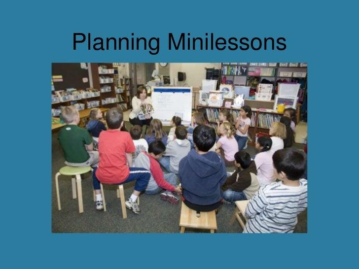 Planning Minilessons