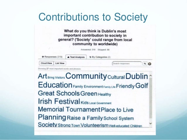 Contributions to Society