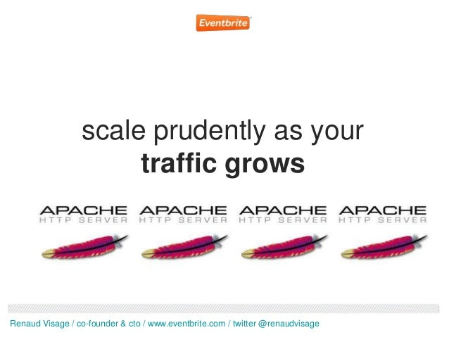 scale prudently as your                      traffic growsRenaud Visage / co-founder & cto / www.eventbrite.com / twitter ...