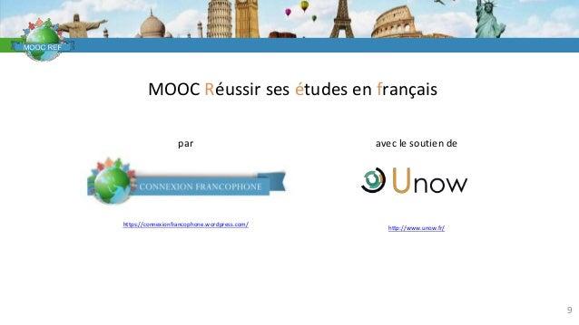 VOCABULAIRE 9 MOOC Réussir ses études en français par https://connexionfrancophone.wordpress.com/ avec le soutien de http:...