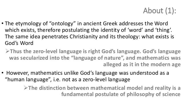 Ontology As A Formal One The Language Of Ontology As The