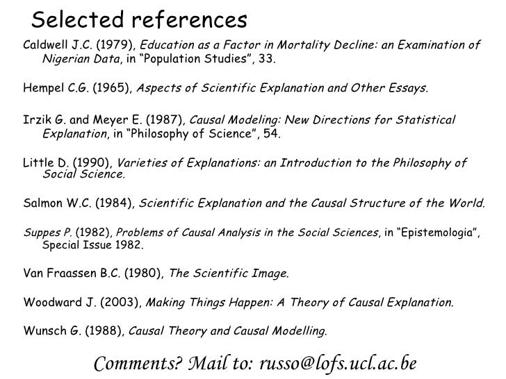 aspects of scientific explanation and other essays in the philosophy of science References akaike, h (1973  aspects of scientific explanation and other essays in the philosophy of science  the british journal for the philosophy of science.