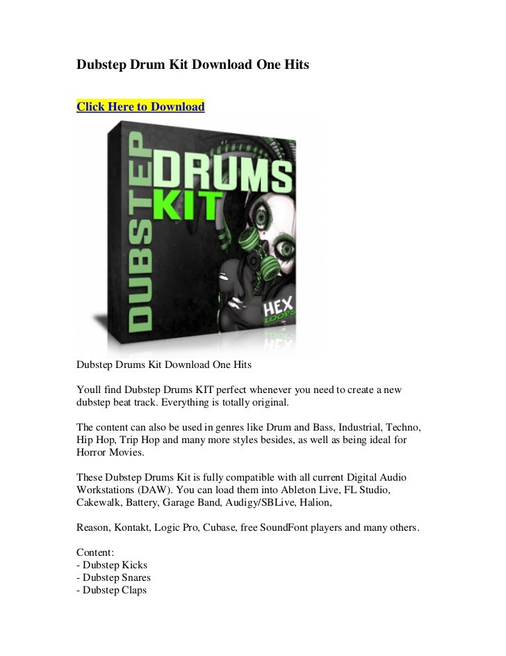Dubstep drum kit download one hits