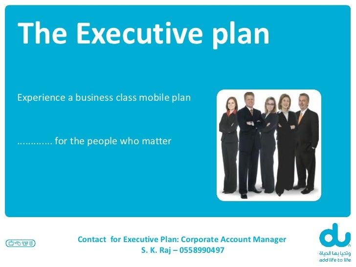 du business executive plan presentation