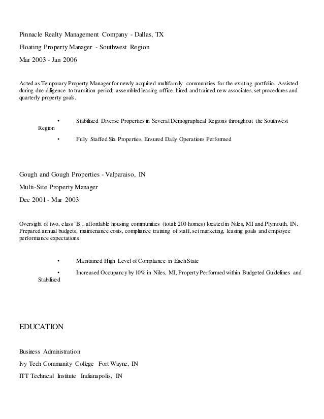 Funky Greystar Property Management Resume Mold - Administrative ...