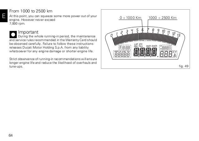 ducati 848 evo 2011 owners manual 65