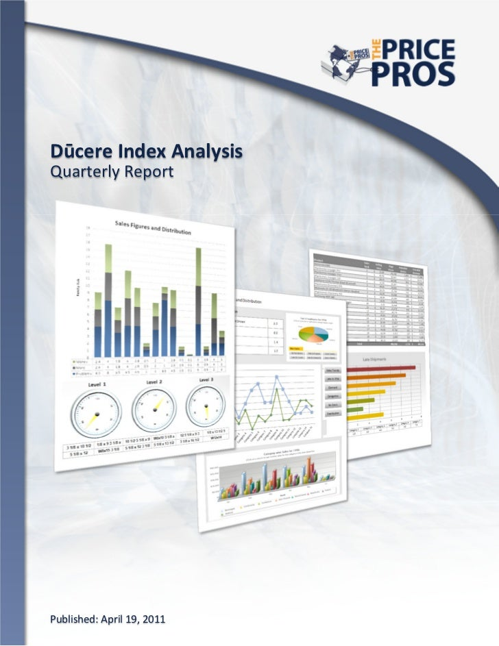 Opportunity Analysis                               Dūcere Index AnalysisQuarterly Report Published: April 19, 2011