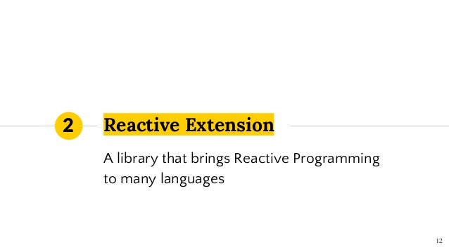 Reactive Extension 12 2 A library that brings Reactive Programming to many languages