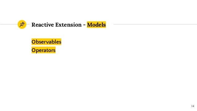 Observables Operators Reactive Extension - Models 14