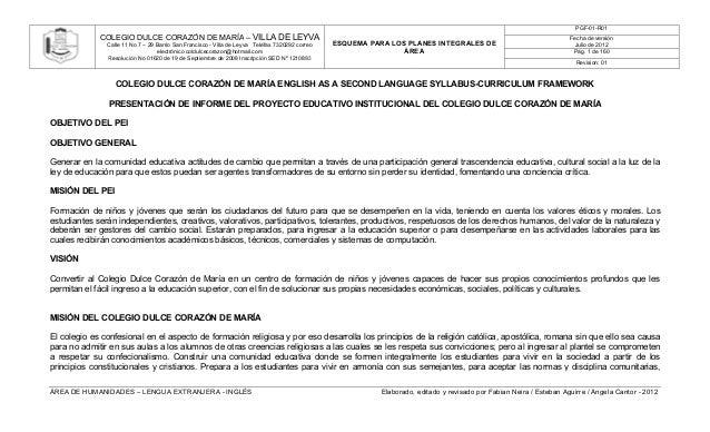 PGF-01-R01             COLEGIO DULCE CORAZÓN DE MARÍA – VILLA DE LEYVA                                                    ...