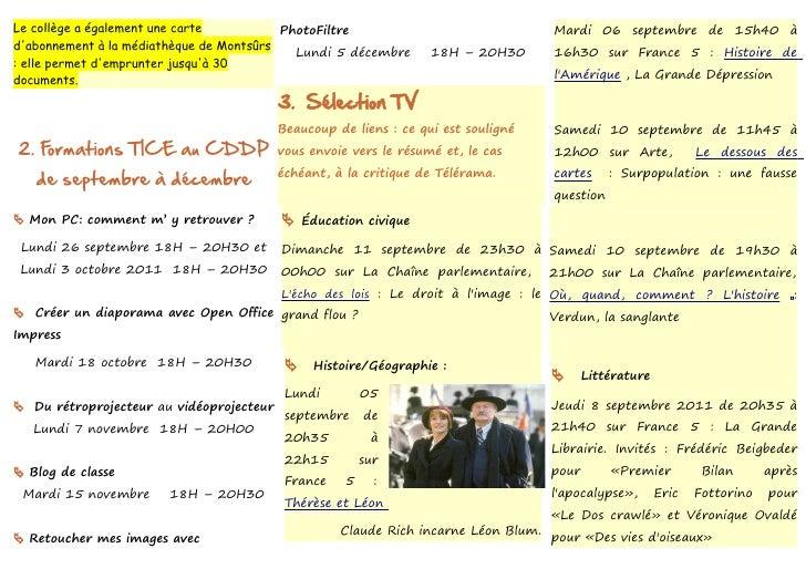 Le collège a également une carte          PhotoFiltre                               Mardi 06 septembre de 15h40 àdabonneme...