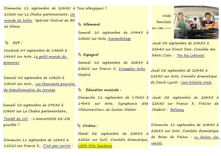 Dimanche 11 septembre de 20h30 à Tous allergiques ?21h00 sur La Chaîne parlementaire, Un                                  ...