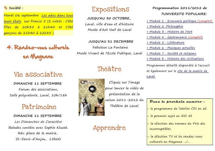  Société :                                                                                       Programmation 2011/2012 ...