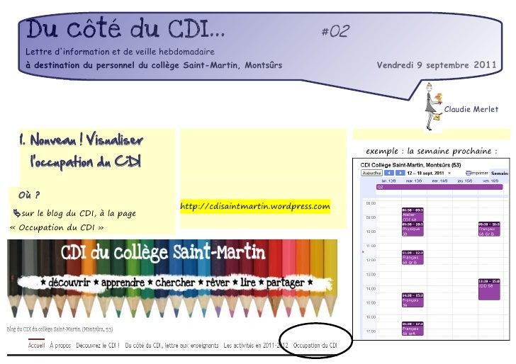 Du côté du CDI...                                                    #02   Lettre dinformation et de veille hebdomadaire  ...