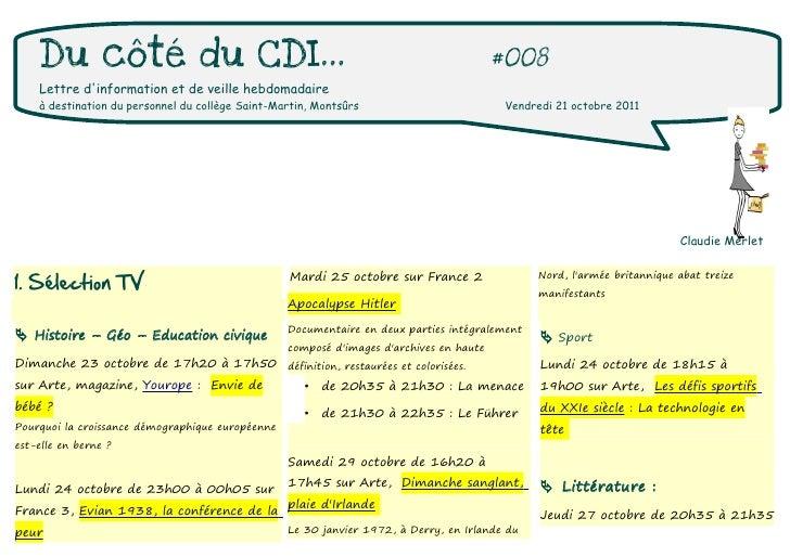 Du côté du CDI...                                                                    #008    Lettre dinformation et de vei...