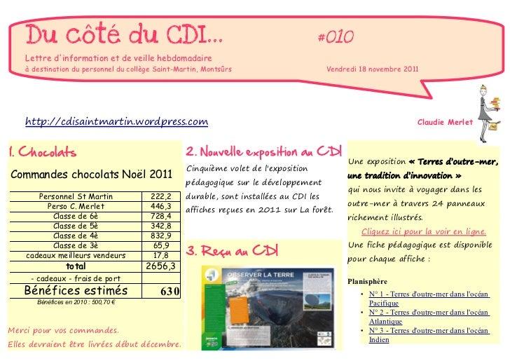 Du côté du CDI...                                                               #010    Lettre dinformation et de veille h...
