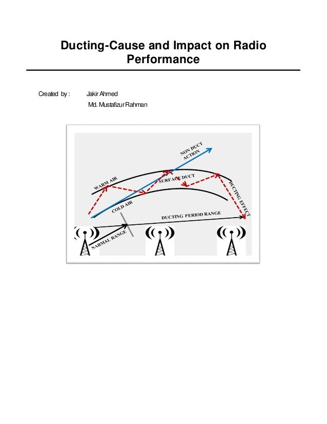 Ducting cause and impact on radio performance