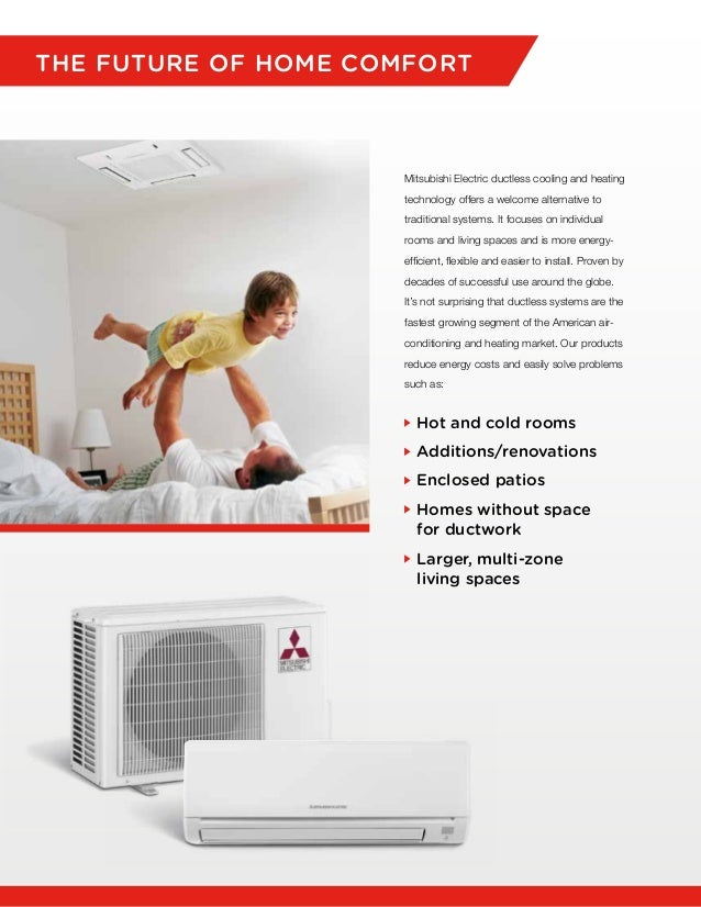 2. THE FUTURE OF HOME COMFORT Mitsubishi Electric Ductless Cooling ...